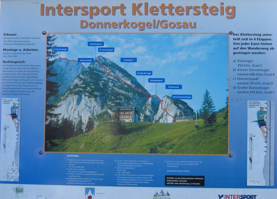 Klettersteig Gosau : Klettern am gosausee nah wasser gebaut oberösterreich urlaub