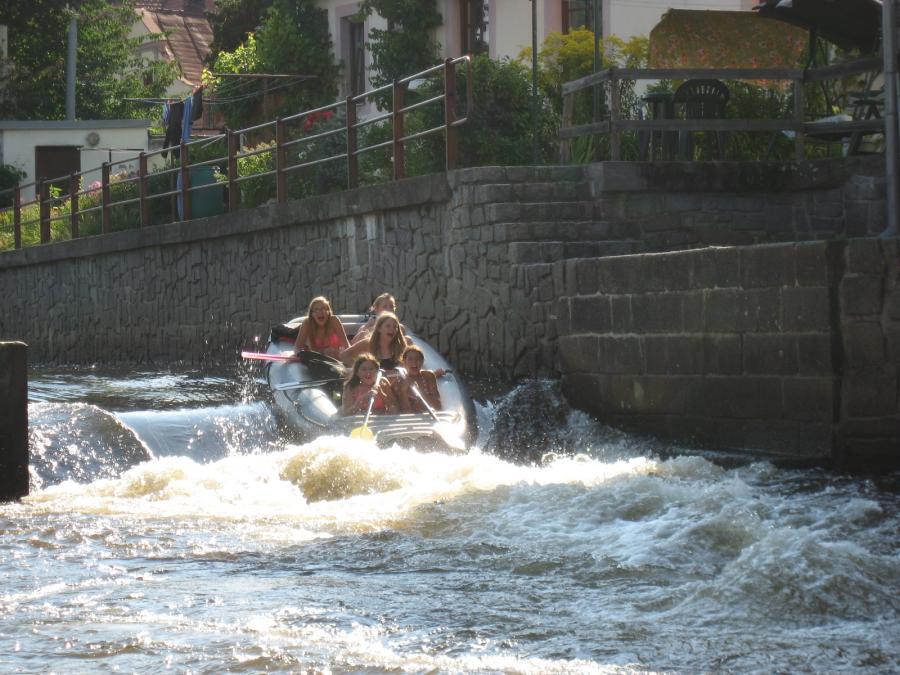 Bootsfahrt Auf Der Moldau